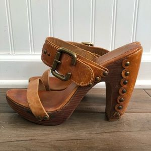 BCBG wooden clogs/heels